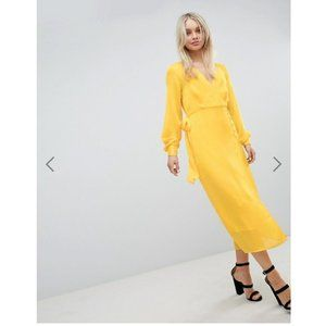 NWT ASOS Wrap Dress In Jacquard SZ 10